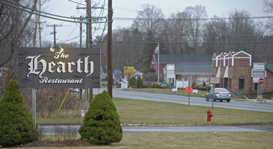 The Hearth Restaurant at the south end of the the Four Corners area of Brookfield. Sidewalks will be extended there in phase four. Tuesday, December 5, 2017, in Brookfield, Conn. Photo: H John Voorhees III / Hearst Connecticut Media / The News-Times