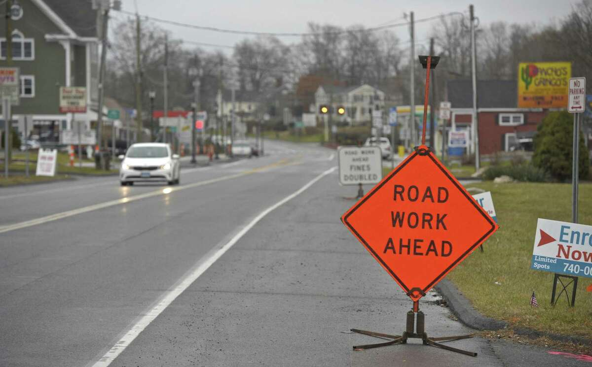 The streetscape work is finishing in the Four Corners area of Brookfield. Tuesday, December 5, 2017, in Brookfield, Conn.