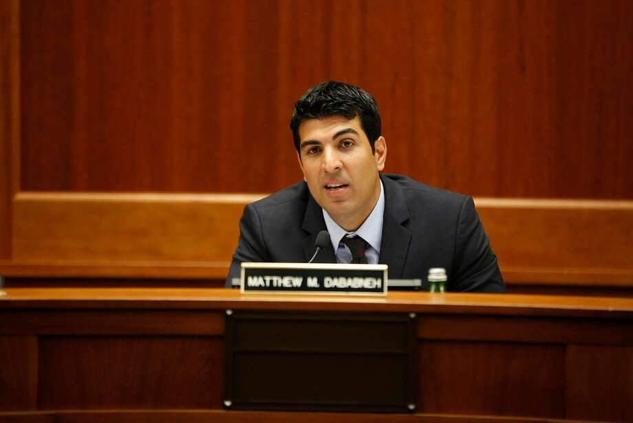 California State Assemblyman Matt Dababneh (D-Encino) in October 2016. Sacramento lobbyist Pamela Lopez has claimed that, in 2016, Dababneh followed her into a bathroom, masturbated in front of her and urged her to touch him. (Kirk McKoy/Los Angeles Times/TNS) Photo: Kirk McKoy, TNS