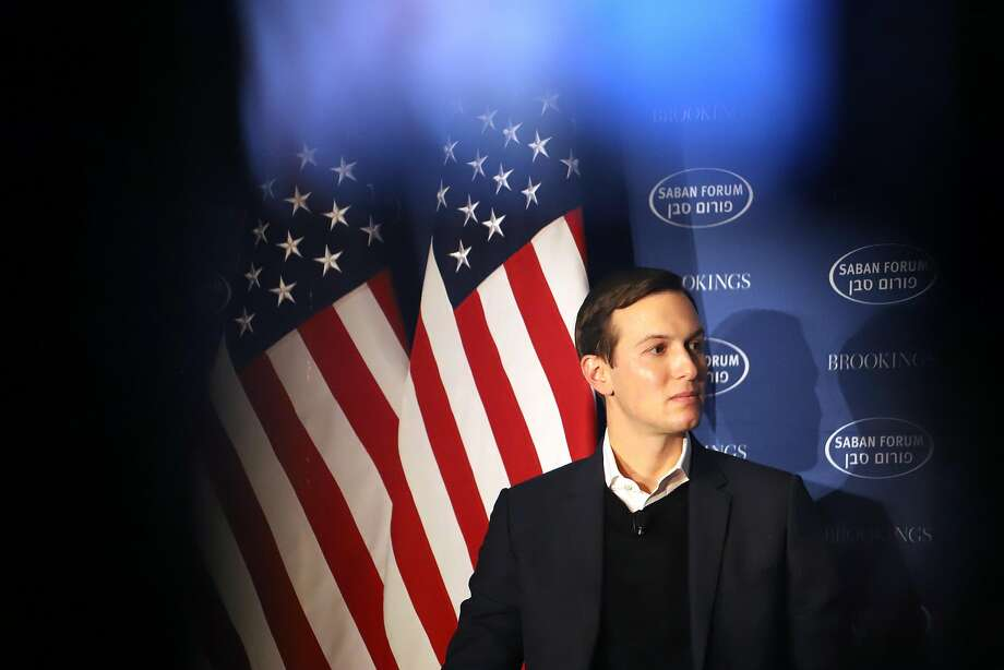 Jared Kushner, senior White House adviser, listens during the Brookings Saban Forum in Washington, D.C., U.S., on Sunday, Dec. 3, 2017. President Donald Trump's chief negotiator for brokering a Middle East peace agreement said he doesn't want to upstage his father-in-law by prematurely announcing a decision on moving the U.S. Embassy in Israel to Jerusalem from Tel Aviv. Photographer: Alex Wroblewski/Bloomberg Photo: Alex Wroblewski, Bloomberg