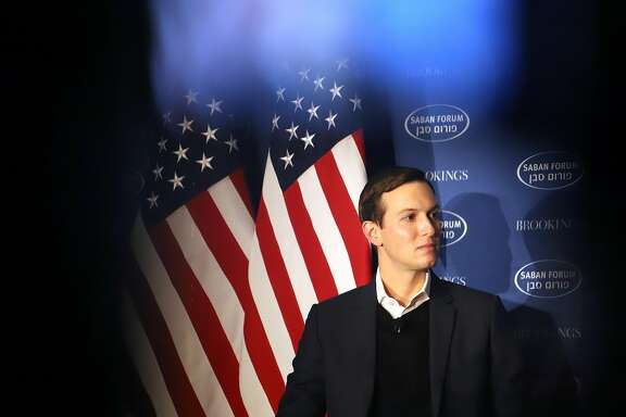 Jared Kushner, senior White House adviser, listens during the Brookings Saban Forum in Washington, D.C., U.S., on Sunday, Dec. 3, 2017. President�Donald Trump's chief negotiator for brokering a Middle East peace agreement said he doesn't want to upstage his father-in-law by prematurely announcing a decision on moving the U.S. Embassy in Israel to Jerusalem from Tel Aviv. Photographer: Alex Wroblewski/Bloomberg
