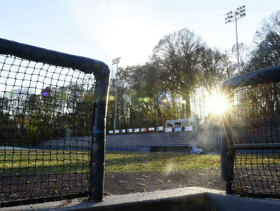 Cubeta Stadium in Scalzi Park in Stamford, Conn., photographed on Monday, Nov. 27, 2017. The city of Stamford is acquiring Cubeta Stadium back from the state. Photo: Tyler Sizemore / Hearst Connecticut Media / Greenwich Time