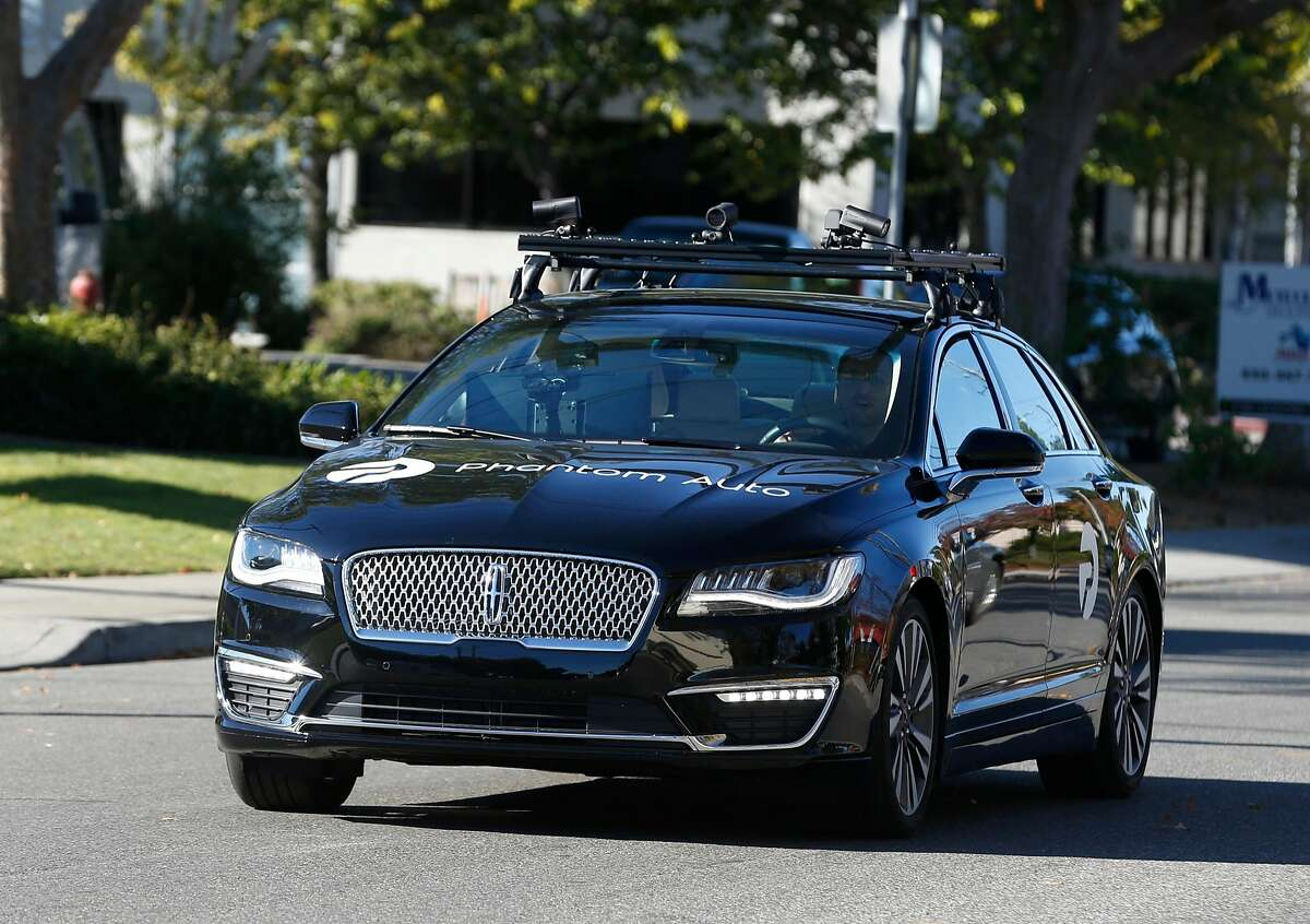 Shai Magzimof, co-founder and CEO of Phantom Auto, takes his company�s autonomous car out for a test drive in Mountain View, Calif. on Tuesday, Dec. 5, 2017.