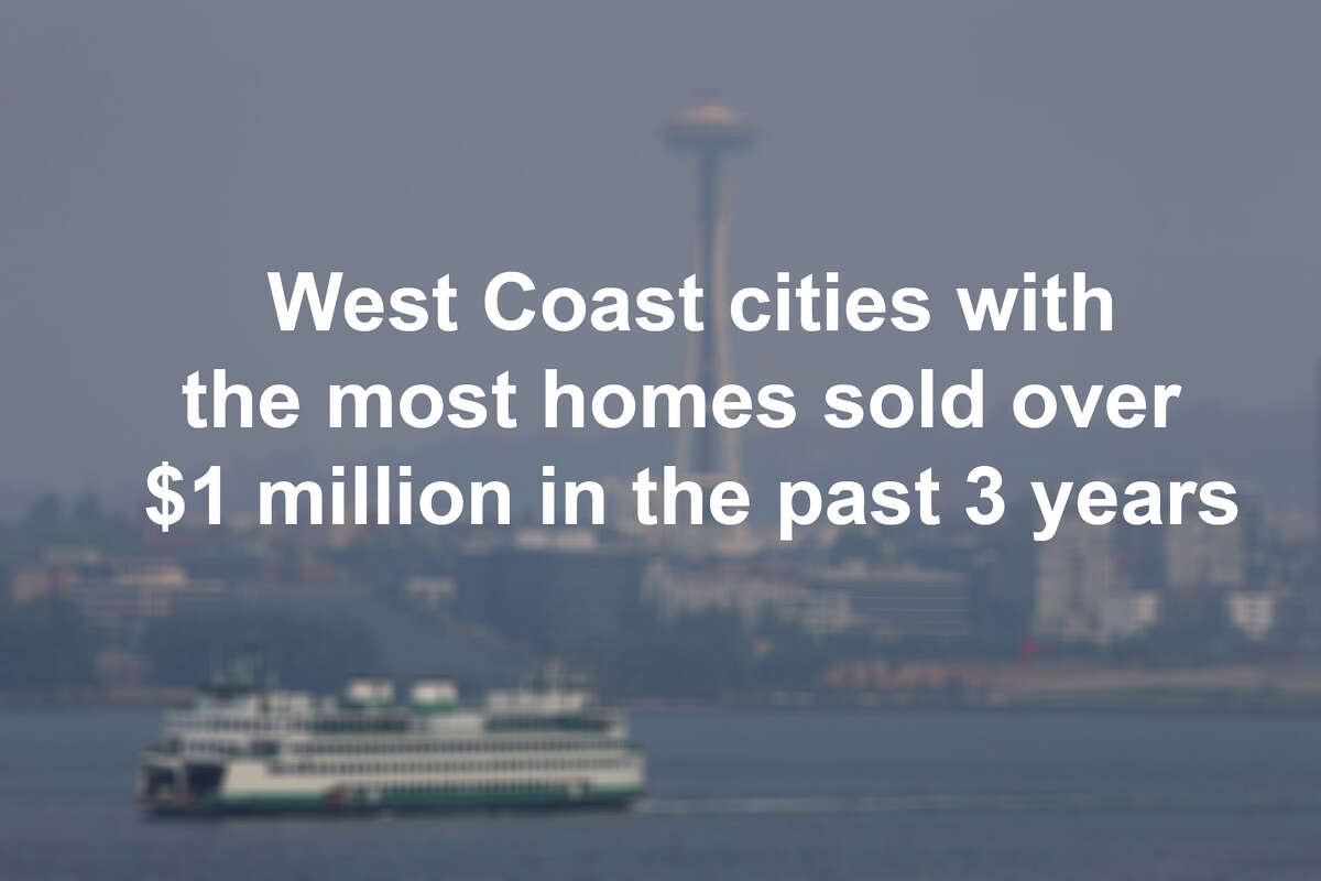 Scroll through the slideshow to see a list of the largest West Coast cities with the most homes that have sold for more than $1 million in that past 3 years.