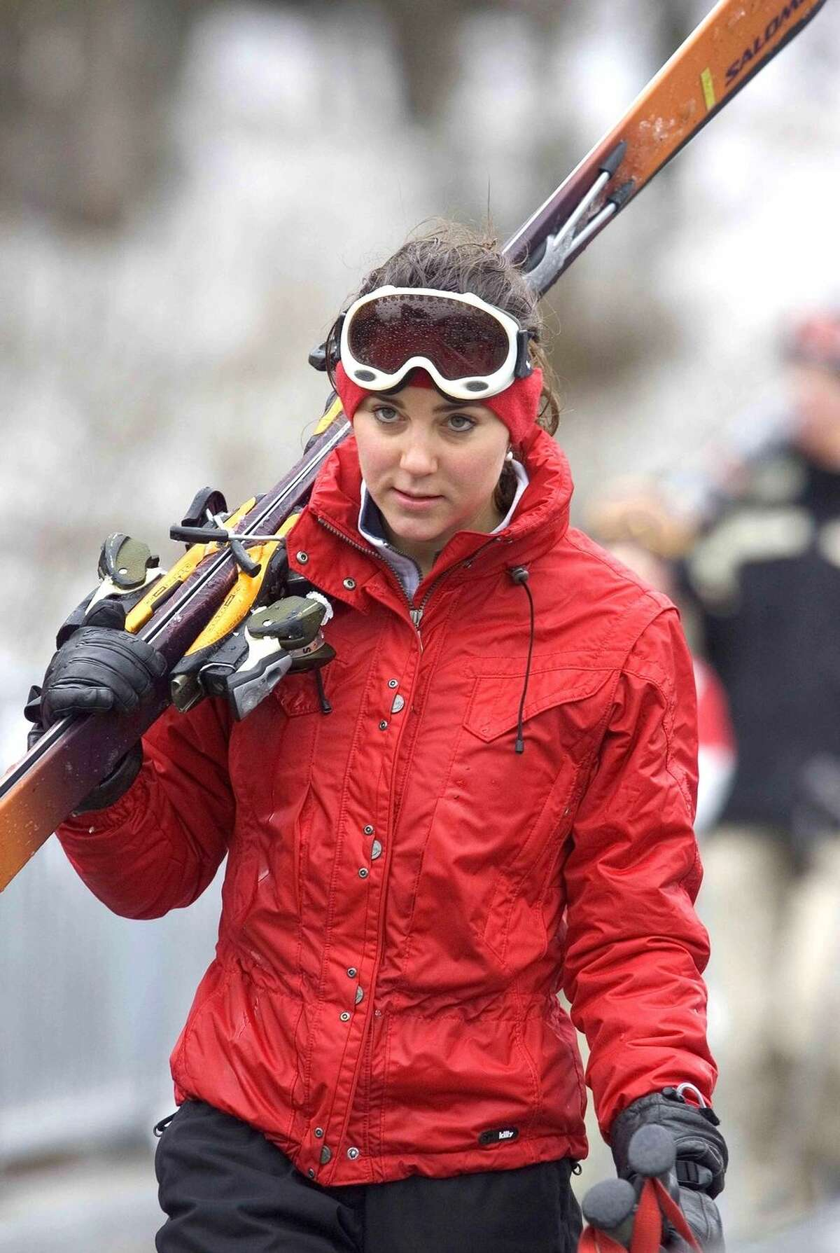 Kate Middleton On a ski trip in Switzerland in 2005.