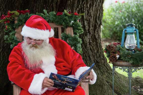 Santa will make an appearance each day during Christmas in the Park for Tree House Storytime at 9:30 a.m., 11 a.m., 1 p.m. and 2:30 p.m. in the yard of the 1930s George Ranch Home.