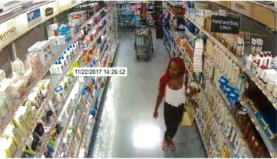 The Montgomery County Precinct 3 Constable's Office is asking the public for assistance in locating two possible suspects accused of pepper-spraying several people while attempting to exit a south Montgomery County Walmart after stealing cosmetics. If you have information, please call Crime Stoppers at1-800-392 7867(stop). Photo: The Montgomery County Precinct 3 Constable's Office
