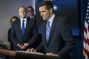 The guilty plea of Michael Flynn, shown here at a press briefing on Feb. 1, for lying to the FBI signals that the former National Security Adviser is cooperating with the special counsel investigating Russian interference in the U.S. election and whether the Trump campaign colluded.