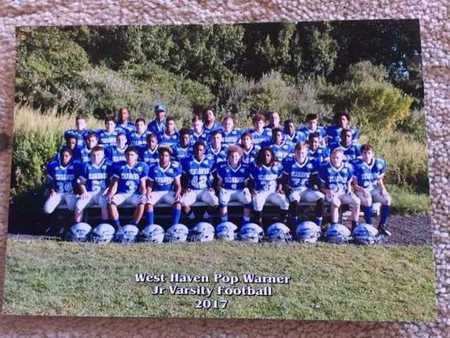 The Ray Tellier Midget Football League's West Haven Seahawks junior varsity team. Photo: Contributed Photo / West Haven Seahawks