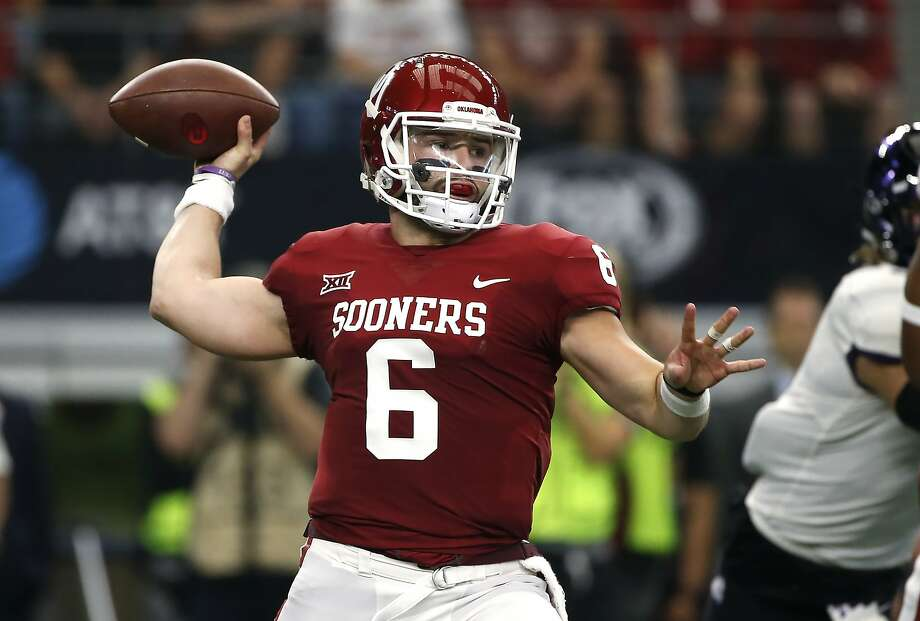Oklahoma's Baker Mayfield has led the Sooners to three consecutive Big 12 championships. Photo: Ron Jenkins, Getty Images