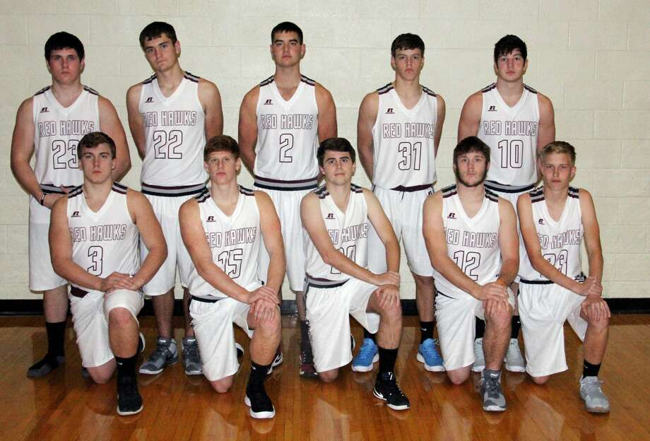 Members of the Cass City boys varsity basketball team are (front row from left) Nick Perry, Garrett Deterring, Catalin David and Joey Krol (back row) Mike Ziegler, Zack Beecher, Hunter Vaughn, Sandyn Cuthrell and Brendan Hamilton.  Photo: Paul P. Adams/Huron Daily Tribune
