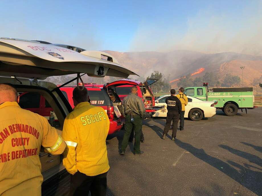 The Little Mountain Fire broke out about 12:28 p.m. just south of California State University, San Bernardino and burned about 30 acres in two hours, Sherwin said. Photo: San Bernardino County Fire Department