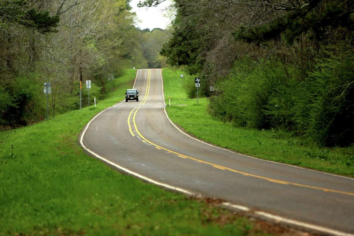Highway 21 runs along what was the El Camino Real de los Tejas National Historic Trail in San Augustine, Texas. El Camino Real is the Spanish colonial route between missions on the Mexican border and East Texas.