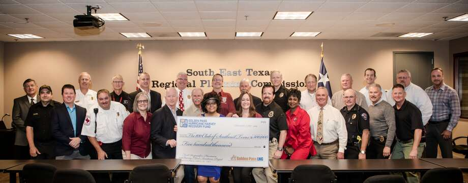 The 100 Club of Southeast Texas received a $500,000 grant to support first responders whose homes were damaged during Harvey from the Golden Pass Hurricane Harvey Recovery Fund.Photo provided by Golden Pass.