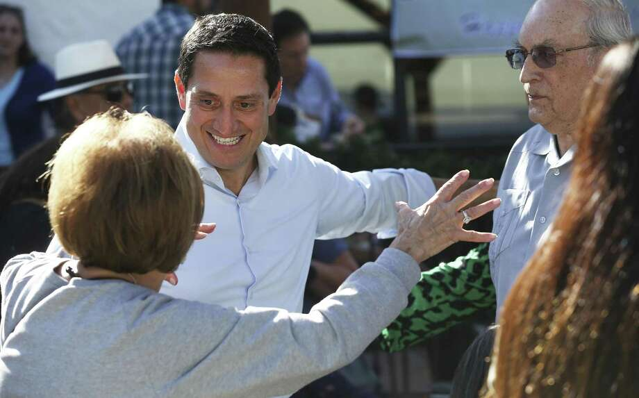 Trey Martinez Fischer gets an enthusiastic response from supporters as he announces his intentions to once again run for state legislative office on December 2, 2017 Photo: Tom Reel, Staff / San Antonio Express-News / 2017 SAN ANTONIO EXPRESS-NEWS