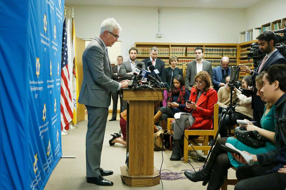 District Attorney George Gascon speaks during a press conference regarding the Kate Steinle verdict on Tuesday, December 5, 2017 in San Francisco, Calif. Photo: Lea Suzuki, The Chronicle