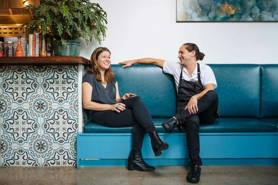 Anna Sager Cobarruvias and Nick Cobarruvias at their restaurant, Son's Addition, in S.F. Photo: Mason Trinca, Special To The Chronicle