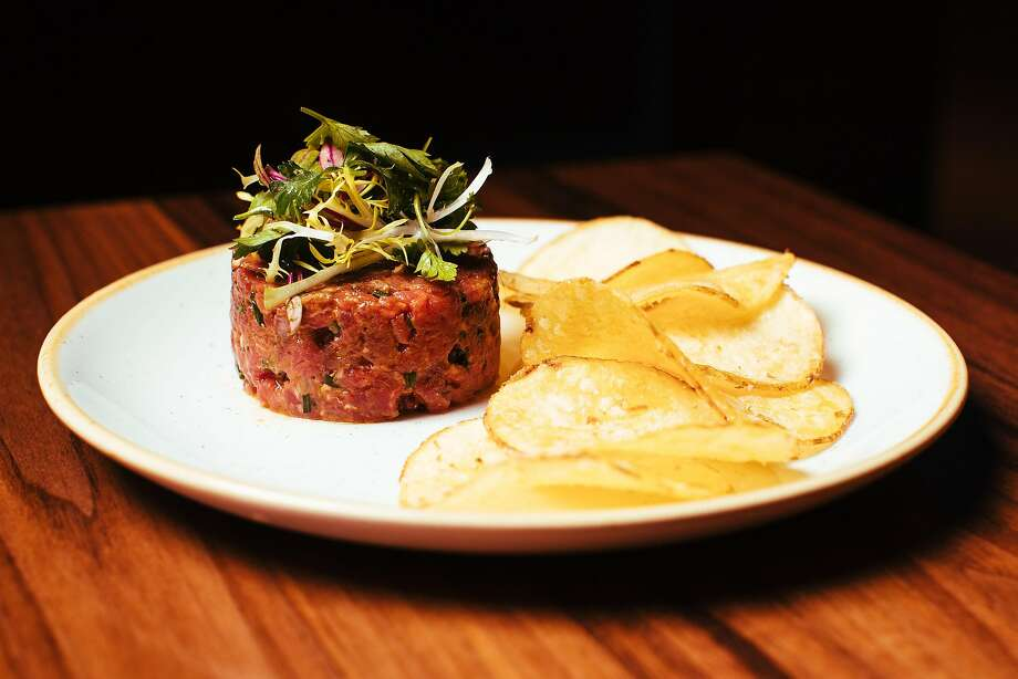 Beef tartare with potato chips at Son's Addition in S.F. Photo: Mason Trinca, Special To The Chronicle