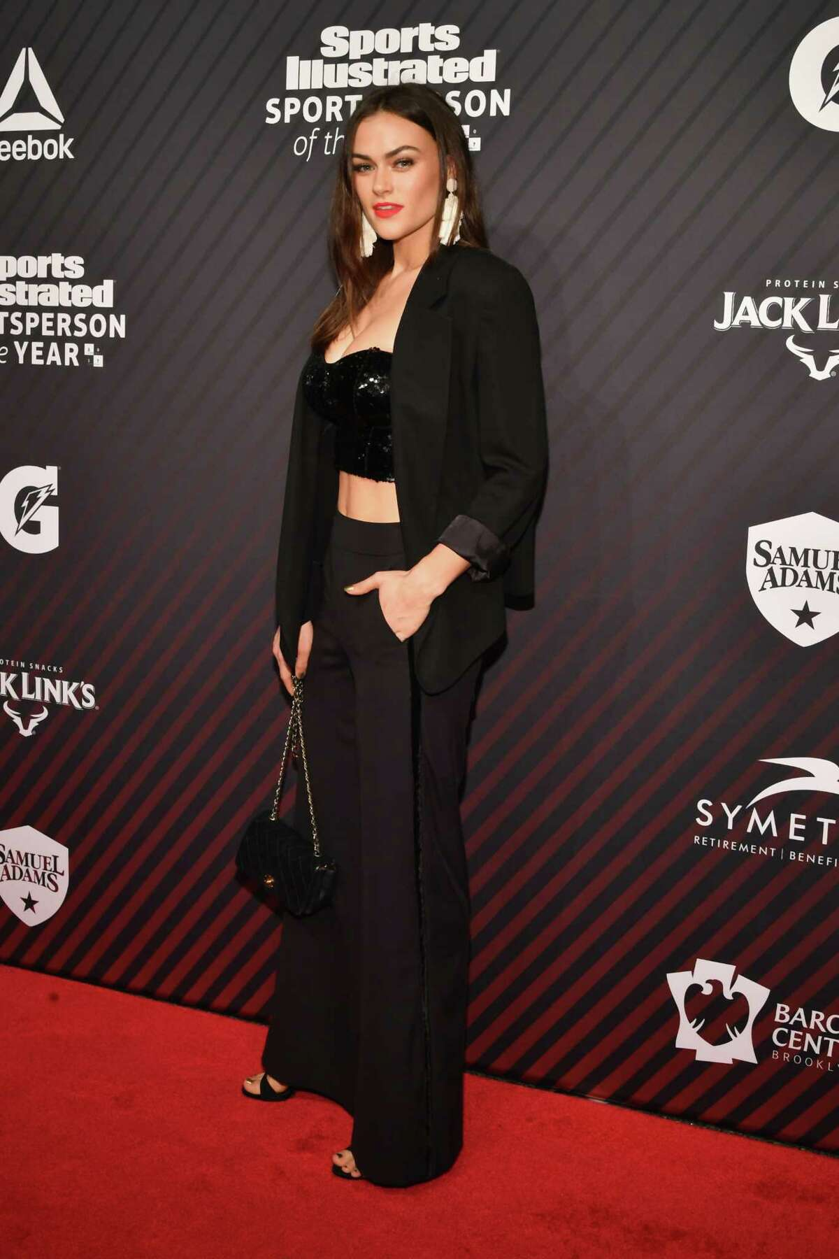 NEW YORK, NY - DECEMBER 05: Sports Illustrated Swimsuit model Myla Dalbesio attends SPORTS ILLUSTRATED 2017 Sportsperson of the Year Show on December 5, 2017 at Barclays Center in New York City.