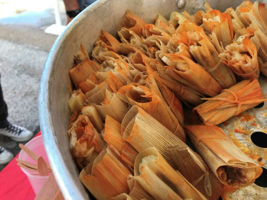Venison tamales were served by the HOUBBQ Collective at Southern Smoke 2017 held at Underbelly on Oct. 22. Photo: Greg Morago