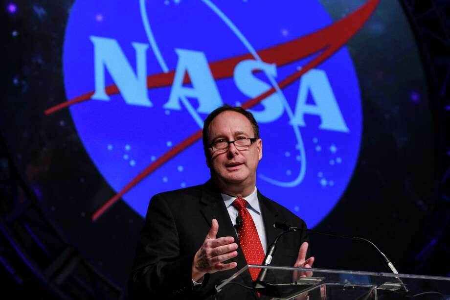 Robert M. Lightfoot, acting administrator, NASA, speaking at SPACECOM, Space Commerece Conference and Exposition, at the George R. Brown Convention Center.  (For the Chronicle/Gary Fountain, December 5, 2017) Photo: Gary Fountain, For The Chronicle / Copyright 2017 Gary Fountain