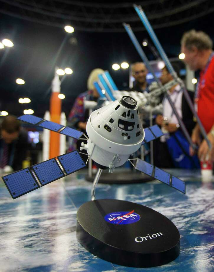 A model of the Orion capsule was among the sights at the  SpaceCom conference last week at the George R. Brown center. Photo: Mark Mulligan, Houston Chronicle / © 2017 Houston Chronicle