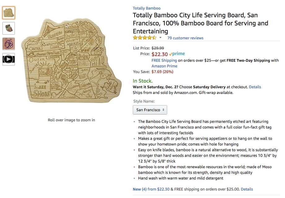 San Francisco serving board Photo: Amazon