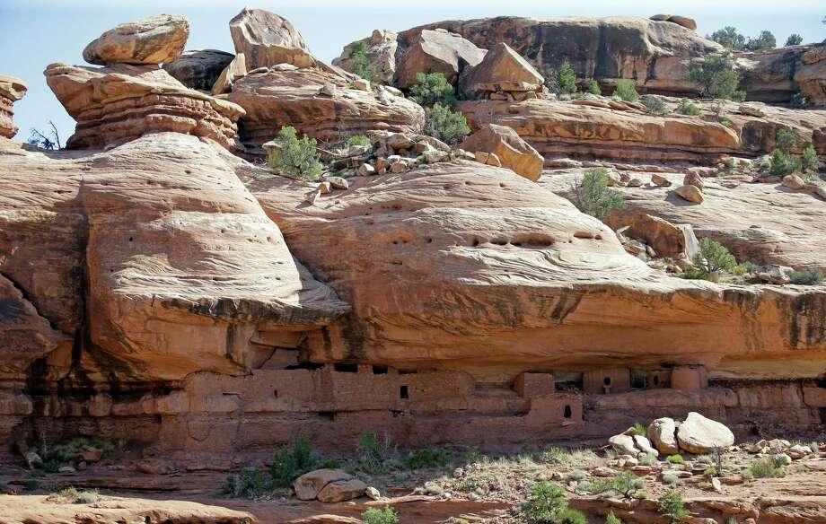 """The """"Moonhouse"""" in McLoyd Canyon is part of Bears Ears National Monument, near Blanding, Utah. Photo: Rick Bowmer, STF / Copyright 2017 The Associated Press. All rights reserved."""
