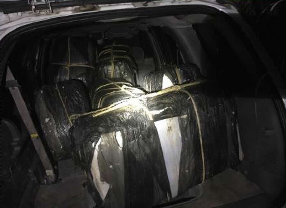 Border Patrol agents in Laredo said they found almost 500 pounds of marijuana recently in a Chevrolet TrailBlazer. Photo: Courtesy