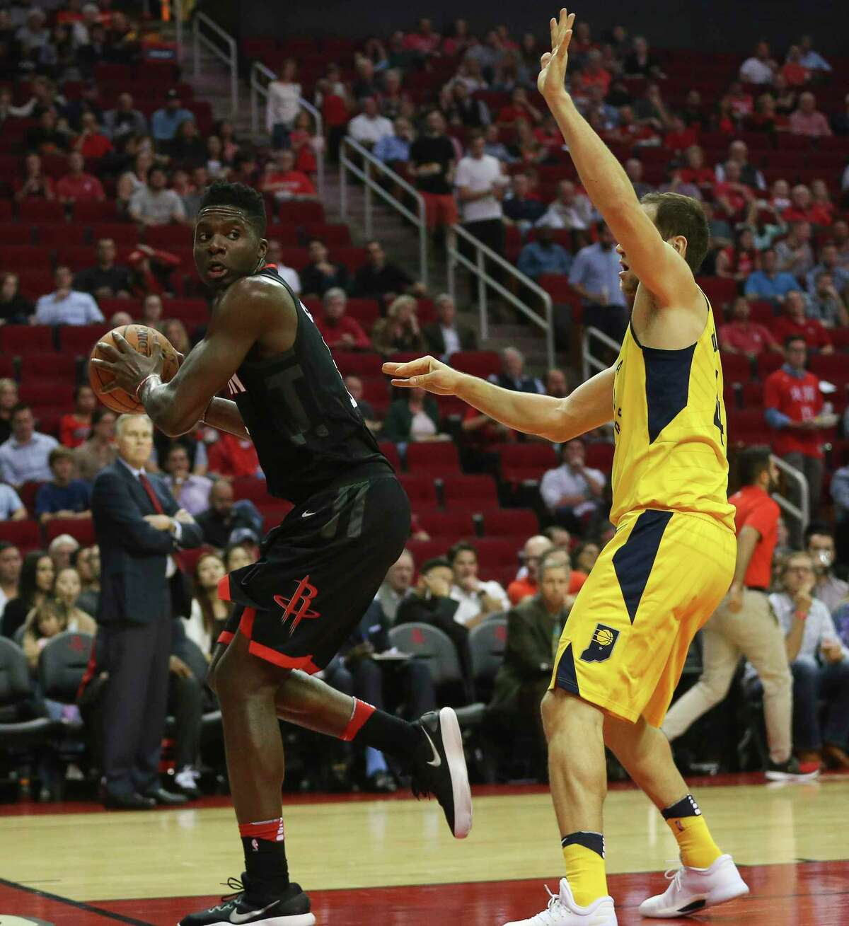 Rockets center Clint Capela is attempting to broaden his offensive game beyond catching lob passes for dunks.