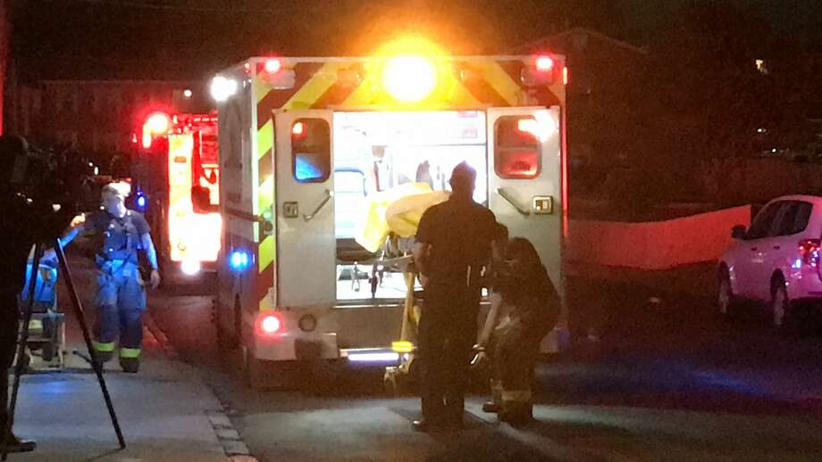 Two teens were reportedly shot in the legs in the 8500 block of Ahern Drive, Tuesday, Dec. 5, 2017. Police said it appeared that the teens tried to steal a necklace that they had agreed to buy over an app and the seller's passenger shot them. Photo: Jacob Beltran
