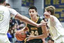 Neal Garcia and Nixon (24-5, 10-0 District 31-5A) blew out Veterans Memorial in Mission 97-57 on Tuesday for their 12th consecutive victory.