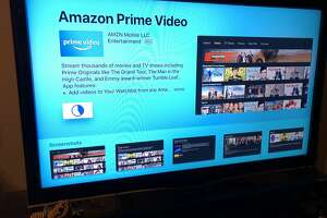 """Find the Amazon video app by searching for """"Amazon Prime Video"""" on the Apple TV's app store."""