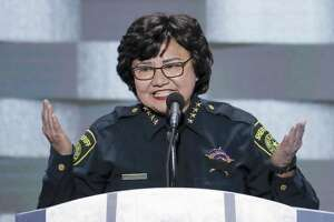Former Dallas County Sheriff Lupe Valdez is running as a Democrat for governor.