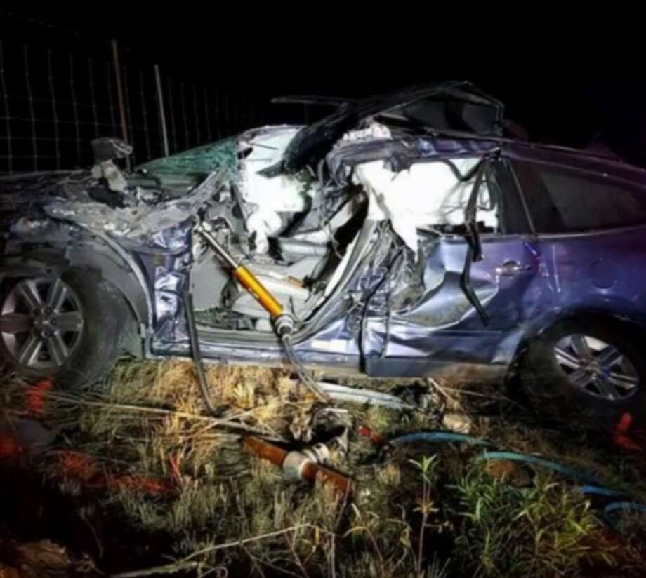 The Department of Public Safety is investigating a crash that left one person in critical condition. Photo: Zapata County Fire Department/Courtesy Photo