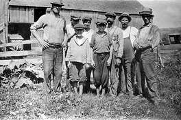 """Edgar Bostwick and fellow tobacco farmers pose for posterity in the 1920s in New Milford. If you have a """"Way Back When"""" photo to share, contact Deborah Rose at drose@newstimes.com or 860-355-7324."""