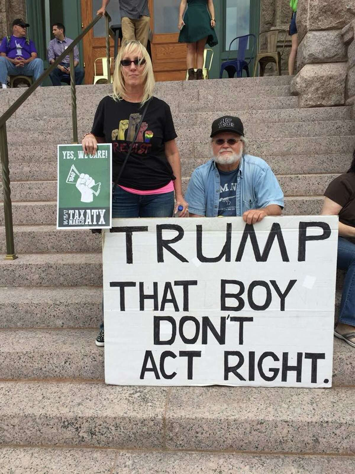 The last thing Gale McCray, 75, of Fort Worth, expected was for his simple anti-Trump sign to become one of the most recognizable images criticizing the commander-in-chief this year.