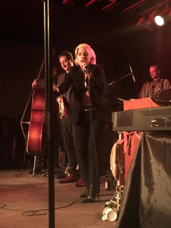 Lady Gaga surprised the crowd at Antone's Nightclub seeing trumpeter Brian Newman after her concert at the Frank Erwin Center in Austin. Photo: Erika Hernandez