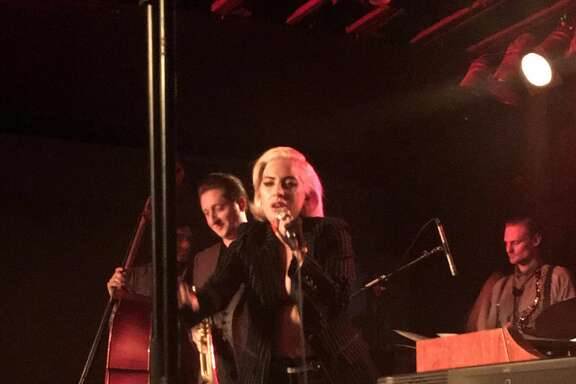 Lady Gaga surprised the crowd at Antone's Nightclub seeing trumpeter Brian Newman after her concert at the Frank Erwin Center in Austin.