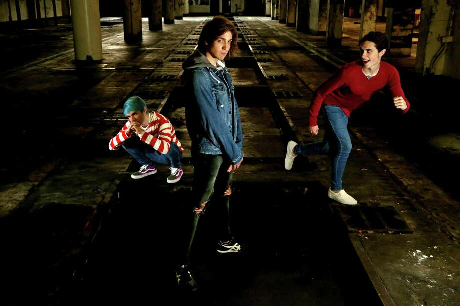 """Awsten Knight, Geoff Wigington and Otto Wood, of Waterparks, Houston based, just released its debut single and music video for """"Crave"""" via Billboard and is also now being featured on MTV, Friday, Nov. 13, 2015, in Houston, Texas. ( Gary Coronado / Houston Chronicle ) Photo: Gary Coronado, Staff / © 2015 Houston Chronicle"""