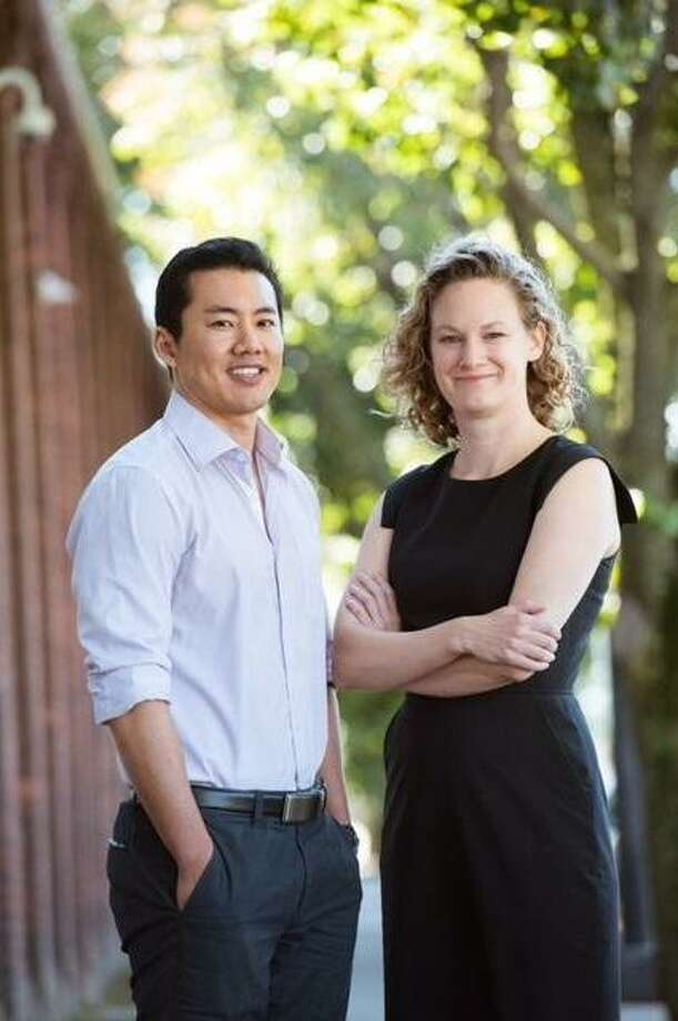 Jack Tsai, associate professor of psychiatry and researcher, with Margaret Middleton of CVLC. Photo: DesireaStill / Contributed Photo