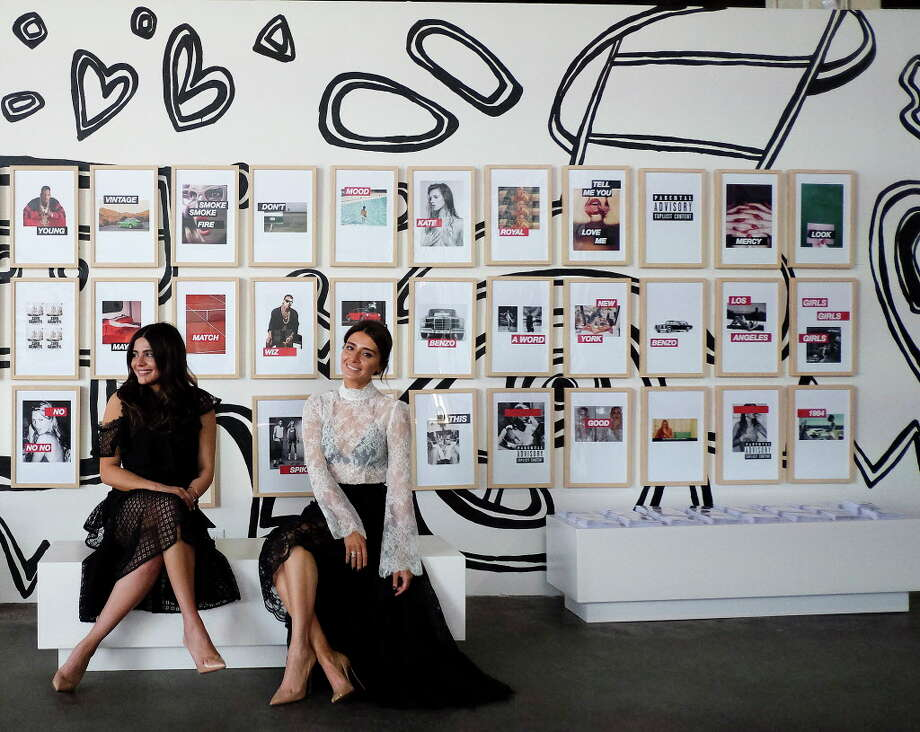 Sister interior design duo Sarah, left, and Saba Jawda in their holiday pop-up warehouse store on Thursday, Nov. 30, 2017, in Houston. ( Elizabeth Conley / Houston Chronicle ) Photo: Elizabeth Conley, Chronicle / © 2017 Houston Chronicle