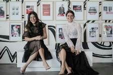 Sister interior design duo Sarah, left, and Saba Jawda in their holiday pop-up warehouse store on Thursday, Nov. 30, 2017, in Houston. ( Elizabeth Conley / Houston Chronicle )