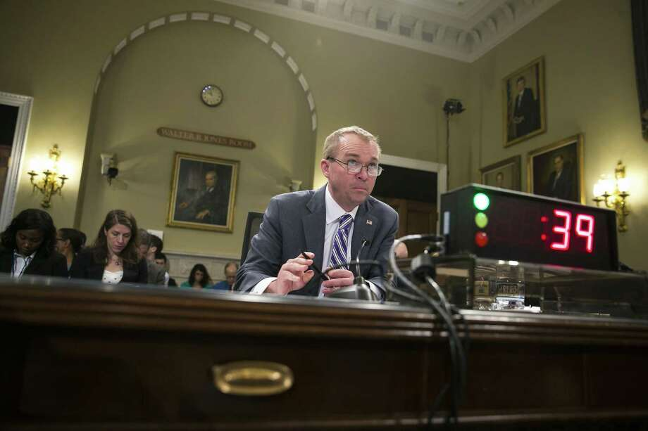 Mick Mulvaney, then President Trumps budget director, testifies before the House Budget Committee on Capitol Hill in Washington, May 24, 2017. Mulvaney is now the acting director of the Consumer Financial Protection Bureau. Photo: AL DRAGO /NYT / NYTNS