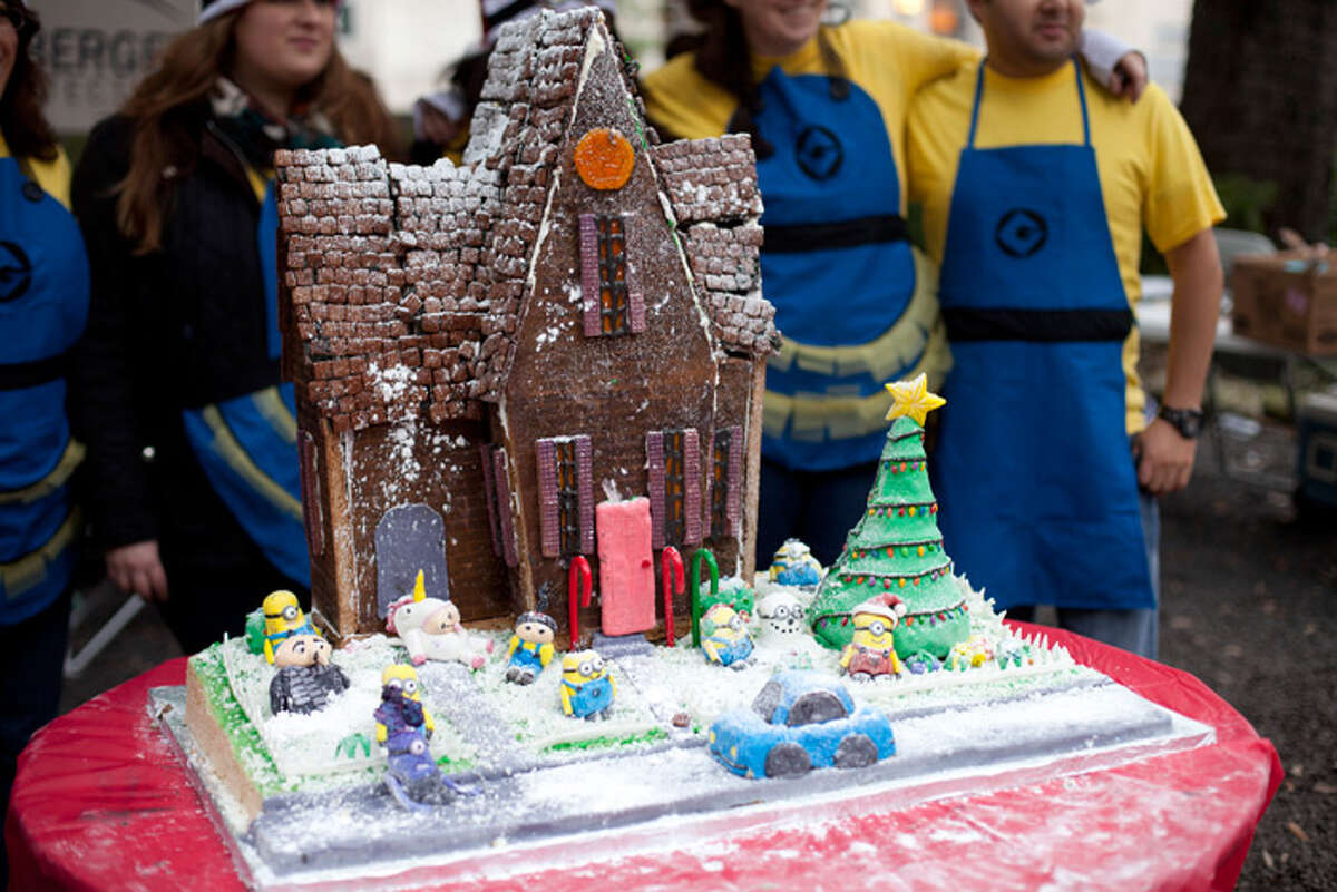 Competing teams will create gingerbread masterpieces, while attendees cheer, play in the construction zone and meet Santa, at the Gingerbread Build-Off Saturday at Hermann Square Park.