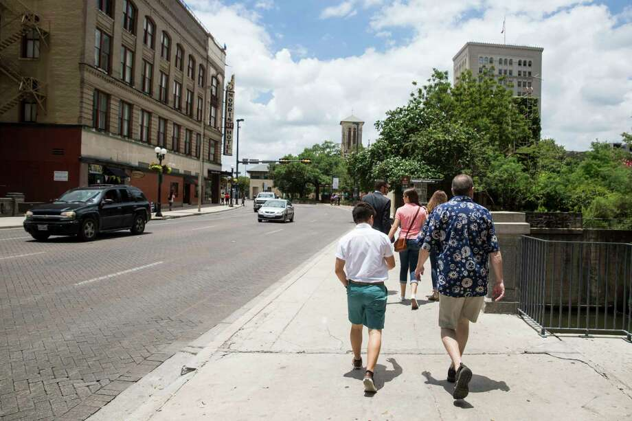 Will walks with his family to the Bexar County Courthouse to get his gender marker legally changed in San Antonio. His last name and identity are withheld for his privacy. Photo: Carolyn Van Houten, San Antonio Express-News / 2017 San Antonio Express-News