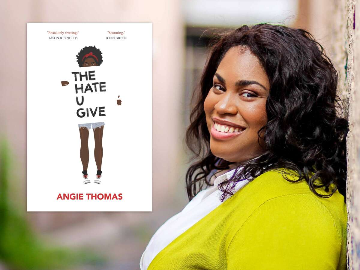 """Angie Thomas and her book """"The Hate U Give."""""""
