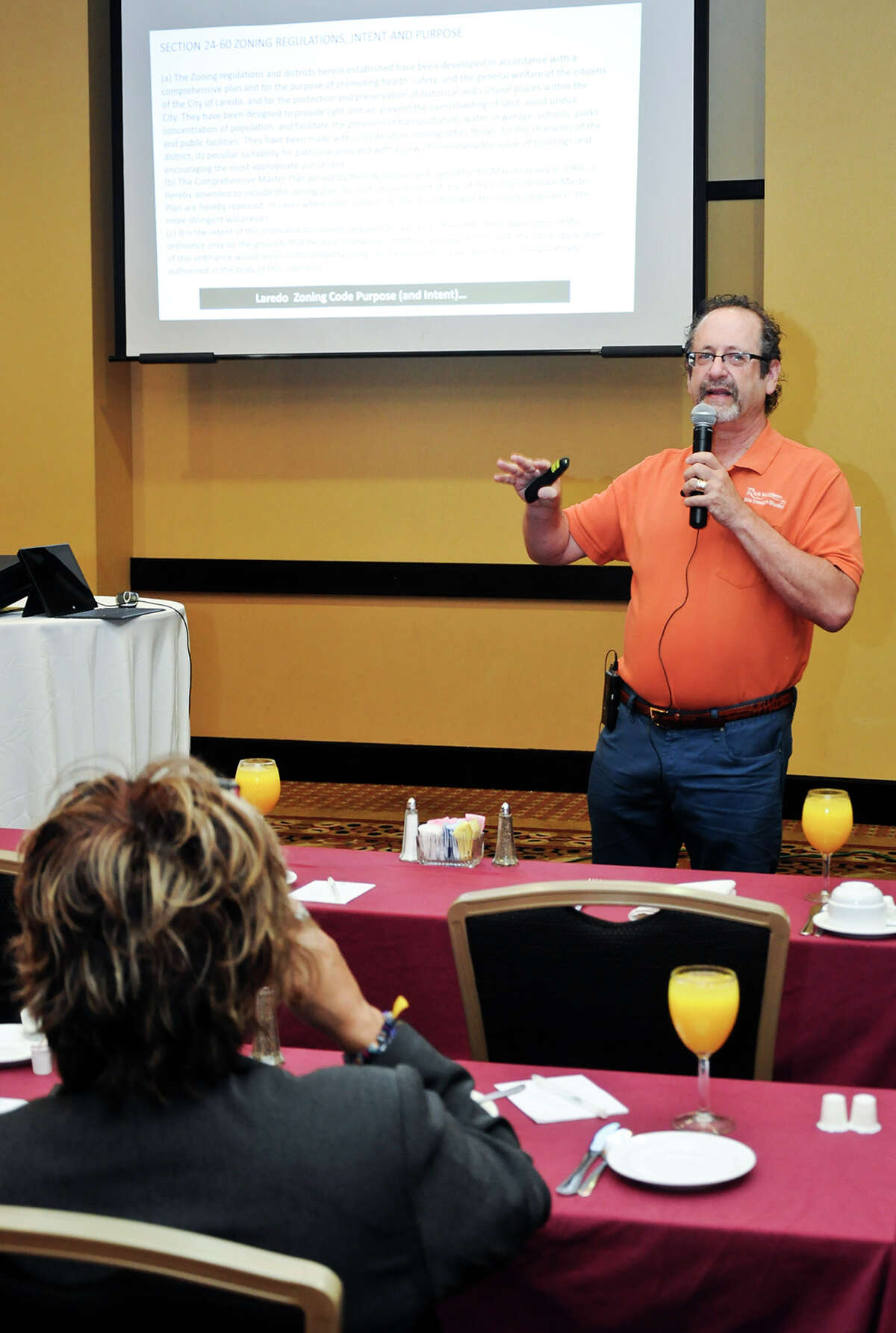 Rick Harrison speaks during the Coves & Winfield workshop Wednesday morning at Embassy Suites.