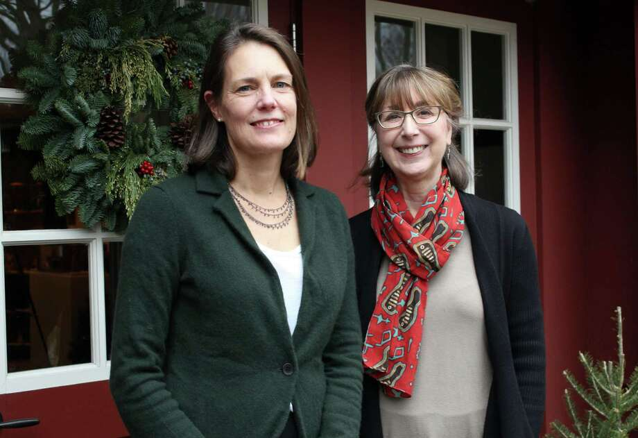 Wilton Historical Society's Kim Mellin, director of education and programs, and Allison Sanders, director of communications. Photo: Stephanie Kim / Hearst Connecticut Media