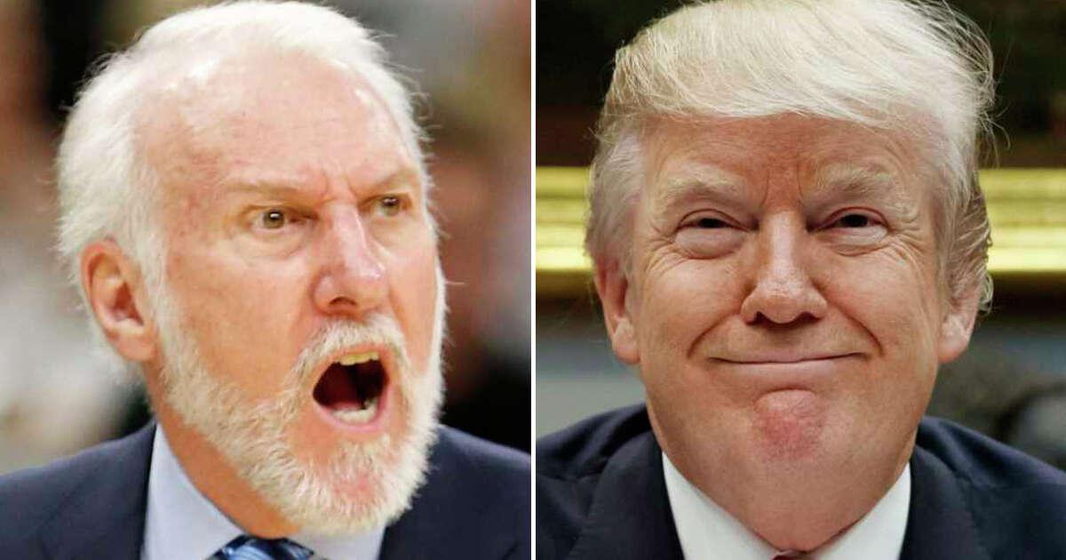 Gregg Popovich vs. Donald Trump Throughout 2017, Spurs coach Gregg Popovich has continually slammed President Donald Trump, labeling him a
